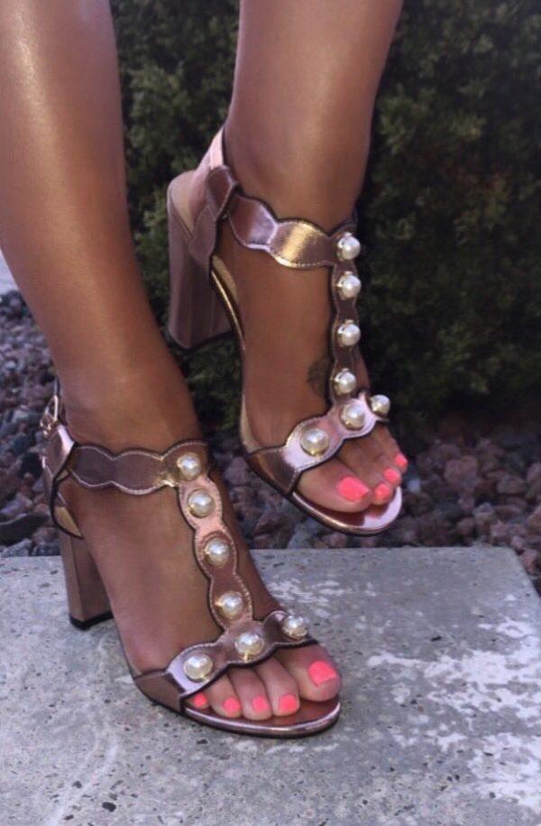 Glamour Brogan Occasional Shoe - Rose Gold